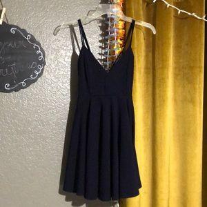 Navy flowy dress